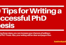10 Tips for Writing a Successful PhD Thesis
