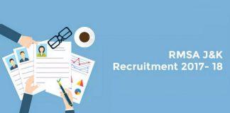 J&K RMSA Recruitment 2017 - 2018