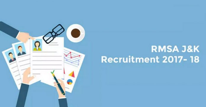 J&K RMSA Recruitment 2017 - 2018