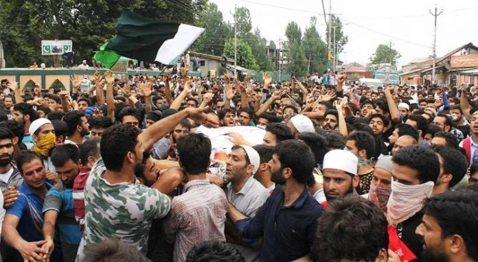 Thousands participate in funeral of Hizb militant Aaquib Gul