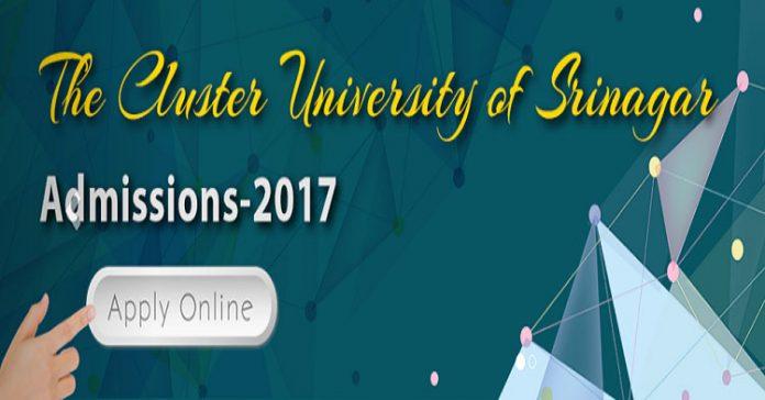 Cluster University Srinagar - Admissions 2017