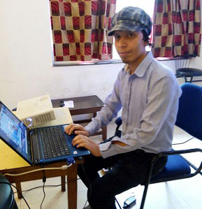 Danish working on a project during an Intership Programme