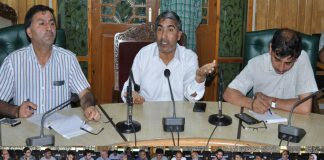 Deputy Commissioner Pulwama Ghulam Mohammad Dar during a meeting