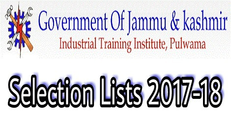 ITI Pulwama issues Selection Lists for Session 2017-18