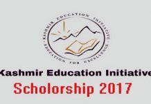 Kashmir Education Initiative Scholarship 2017