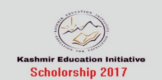 Kashmir Education Initiative Scholarship 2017