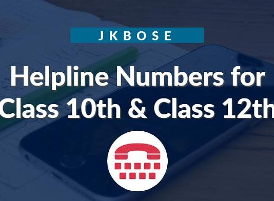 JKBOSE Helpline Numbers for Class 10th & Class 12th Annual Exams
