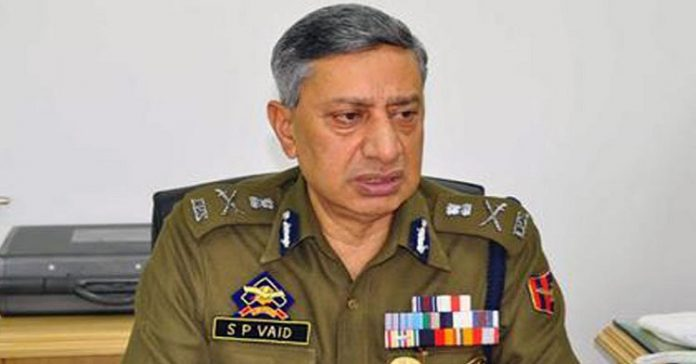 Director General of Police, S P Vaid