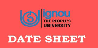IGNOU Date Sheet for Term End Examination (Session: December 2017)