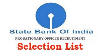 Selection List of Probationary Officers in State Bank of India