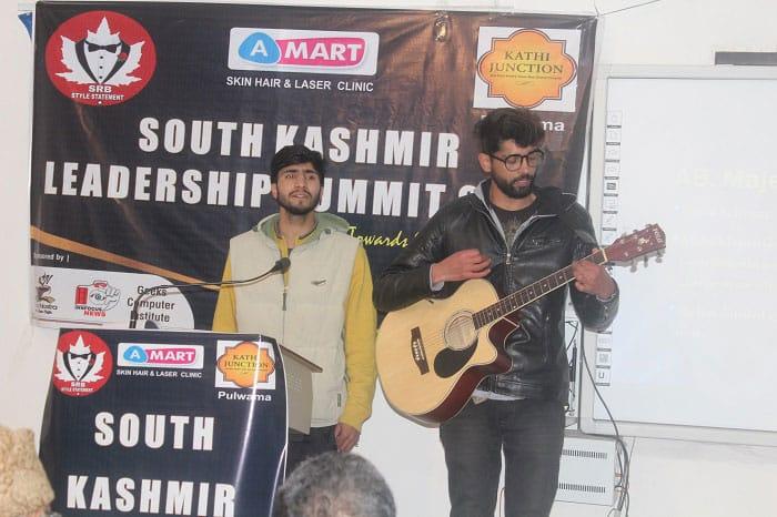 Music band performing at South Kashmir Leadership Summit 2018