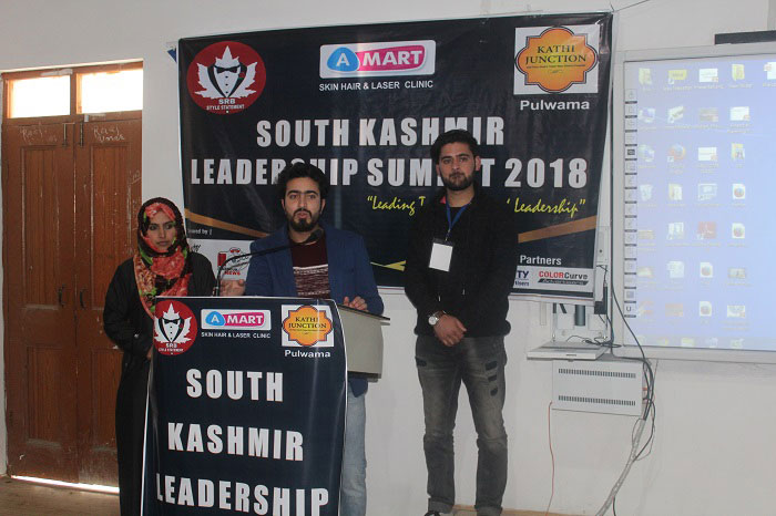Syed Mohsin Andrabi speaking at South Kashmir Leadership Summit 2018