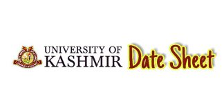 Date Sheet - University of Kashmir