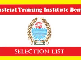 ITI Bemina Selection List