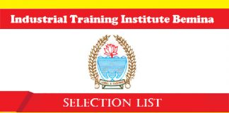 ITI Bemina Selection List