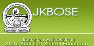 J&K State Board of School Education (JKBOSE)