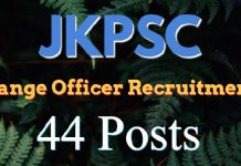 JKPSC Range Officer (Forest) Recruitment 2018 for 44 Posts