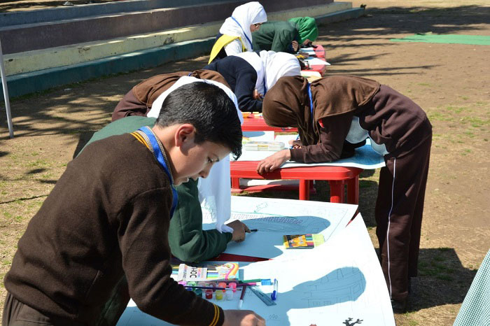 "Students compete in Painting at ""The School of Pride"" event"