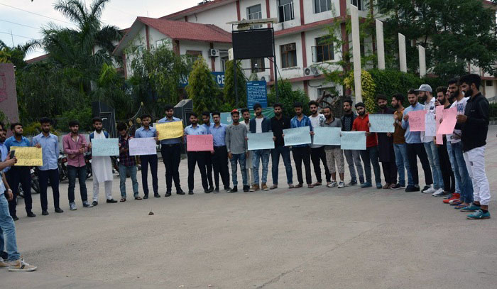 Asifa's Rape & Murder: Desh Bhagat University students protest in Chandigarh