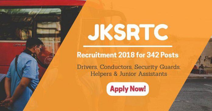 JKSRTC Recruitment 2018 for 342 Posts