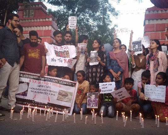 Justice for Asifa: Kashmiri students hold candlelight vigil in Dehradun