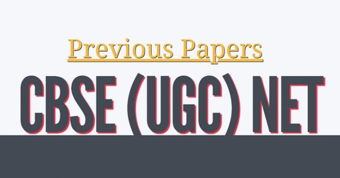 Previous Papers of CBSE (UGC) NET Examination
