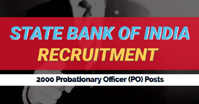 SBI PO Recruitment 2018 for 2000 Posts