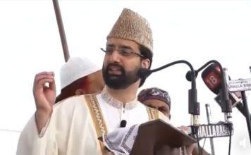 At Eidgah, Mirwaiz says peace can't be created in a vacuum
