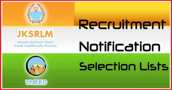 JKSRLM - Notifications - Recruitment - Selection Lists
