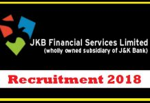JKB Financial Services Limited Recruitment 2018