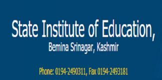 State Institute Of Education - Kashmir (SIE)