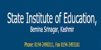 State Institute Of Education - Kashmir (SIE)