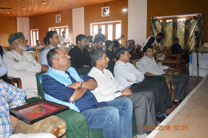 A view of the audience during 'The Kashmir Radar' online news portal's launch event