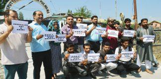 PWJA protests against arrest of journalist Aasif Sultan