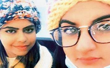 Manjot Singh Kohli, Sikh girl from Udhampur, with her ailing Muslim friend, Samreen Akhtar from Rajouri