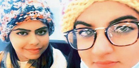 Manjot Singh Kohli, Sikh girl from Udhampur, with her ailing Muslim friend, Samreen Akhtar from Rajouri